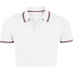 Textiel Heren Polo's korte mouwen Sols PRESTIGE MODERN MEN Blanco