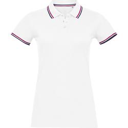 Textiel Dames Polo's korte mouwen Sols PRESTIGE MODERN WOMEN Blanco