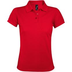 Textiel Dames Polo's korte mouwen Sols PRIME ELEGANT WOMEN Rojo