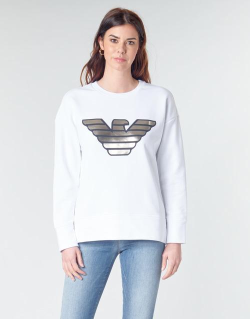 Textiel Dames Sweaters / Sweatshirts Emporio Armani DJIMMY Wit