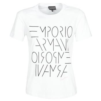 Textiel Dames T-shirts korte mouwen Emporio Armani DONOVANN Wit