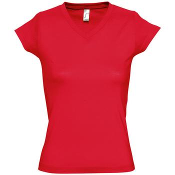 Textiel Dames T-shirts korte mouwen Sols MOON COLORS GIRL Rojo