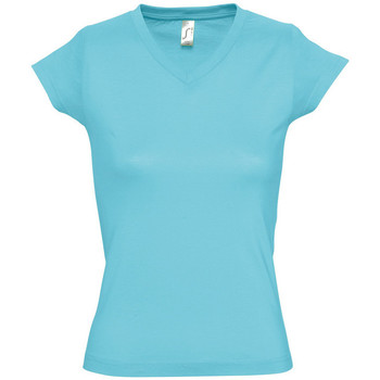 Textiel Dames T-shirts korte mouwen Sols MOON COLORS GIRL Azul