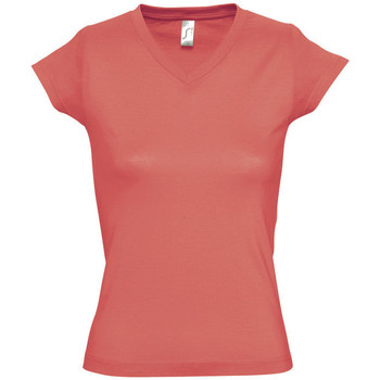 Textiel Dames T-shirts korte mouwen Sols MOON COLORS GIRL Rosa