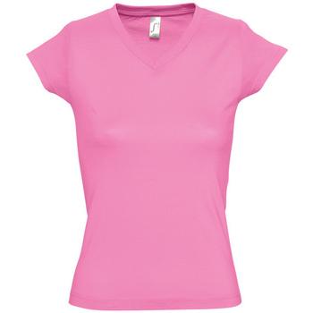 Textiel Dames T-shirts korte mouwen Sols MOON COLORS GIRL Rosa