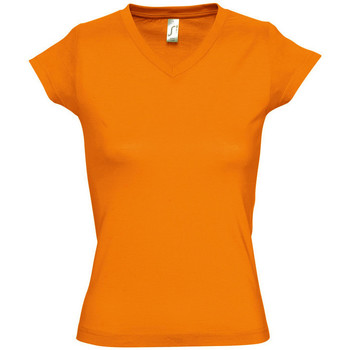 Textiel Dames T-shirts korte mouwen Sols MOON COLORS GIRL Naranja