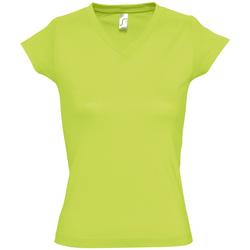 Textiel Dames T-shirts korte mouwen Sols MOON COLORS GIRL Verde