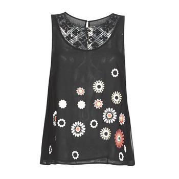Textiel Dames Mouwloze tops Desigual TEBAS Zwart