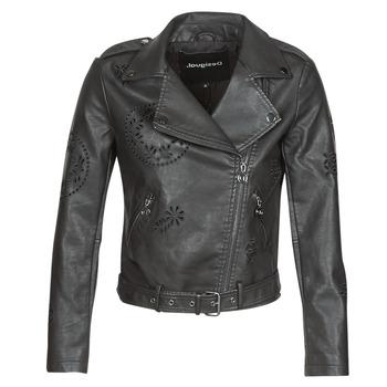 Textiel Dames Leren jas / kunstleren jas Desigual UTAH Zwart