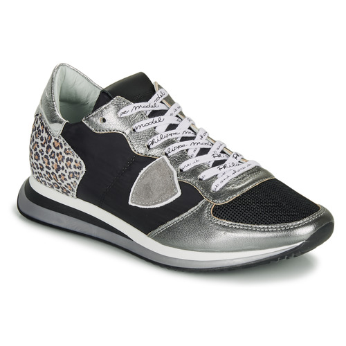 Schoenen Dames Lage sneakers Philippe Model TROPEZ X Zwart / Zilver