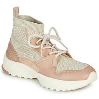 Schoenen Dames Hoge sneakers Coach C245 RUNNER Roze / Nude / Zilver