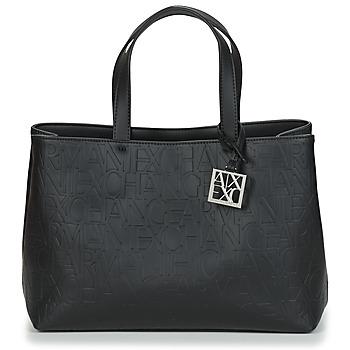 Tassen Dames Handtassen kort hengsel Armani Exchange MANI Zwart