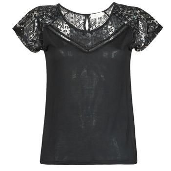 Textiel Dames T-shirts korte mouwen Deeluxe CLEA Zwart