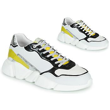 Schoenen Dames Lage sneakers Serafini OREGON Wit / Zwart / Geel