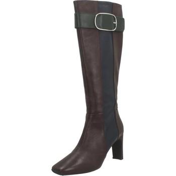 Schoenen Dames Hoge laarzen Geox D V1VYANNE HIGH Bruin