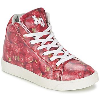 Schoenen Meisjes Hoge sneakers American College RED Rood