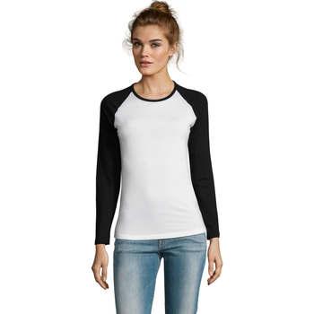 Textiel Dames T-shirts met lange mouwen Sols MILKY LSL SPORT Multicolor