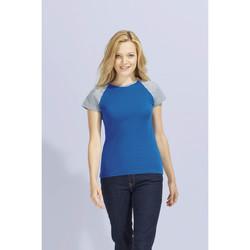 Textiel Dames T-shirts korte mouwen Sols MILKY BICOLOR SPORT Multicolor
