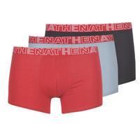 Ondergoed Heren Boxershorts Athena BASIC COLOR Zwart / Bordeau / Grijs