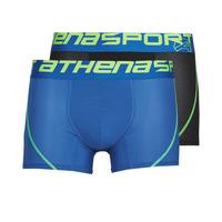 Ondergoed Heren Boxershorts Athena AIR PERFORMANCE Zwart / Blauw