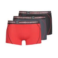 Ondergoed Heren Boxershorts Athena TRAINING Zwart / Rood / Grijs