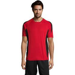 Textiel Heren T-shirts korte mouwen Sols MARACANA 2 SSL SPORT Rojo
