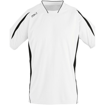 Textiel Heren T-shirts korte mouwen Sols MARACANA 2 SSL SPORT Blanco