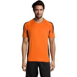 Textiel Heren T-shirts korte mouwen Sols MARACANA 2 SSL SPORT Naranja