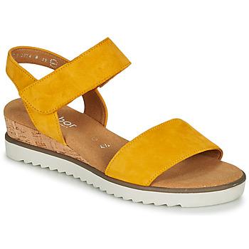 Schoenen Dames Sandalen / Open schoenen Gabor KARIBITOU Geel