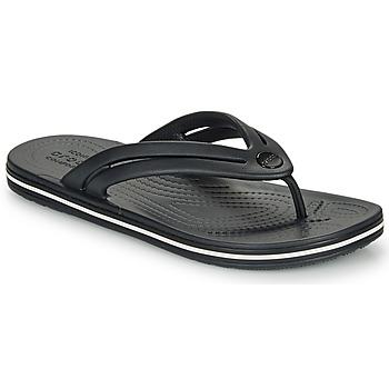 Schoenen Dames Teenslippers Crocs CROCBAND FLIP W Zwart