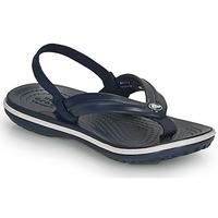 Schoenen Kinderen Teenslippers Crocs CROCBAND STRAP FLIP K Marine