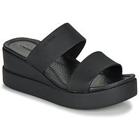 Schoenen Dames Sandalen / Open schoenen Crocs CROCS BROOKLYN MID WEDGE W Zwart