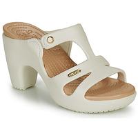 Schoenen Dames Leren slippers Crocs CYPRUS V HEEL W Wit