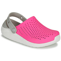 Schoenen Meisjes Klompen Crocs LITERIDE CLOG K Roze / Wit