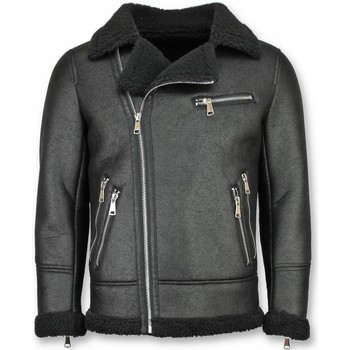 Textiel Heren Wind jackets Tony Backer Imitatie Bontjas - Lammy Coat - Zwart