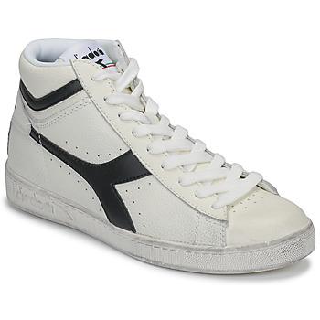 Schoenen Hoge sneakers Diadora GAME L HIGH WAXED Wit / Zwart