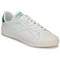 Schoenen Dames Lage sneakers Diadora MELODY LEATHER DIRTY Wit / Groen