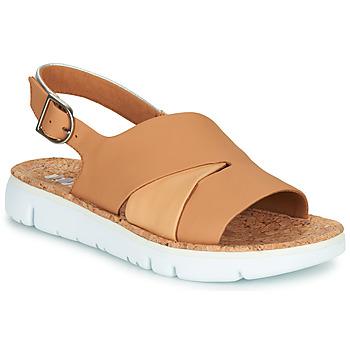 Schoenen Dames Sandalen / Open schoenen Camper TWINS Nude / Wit