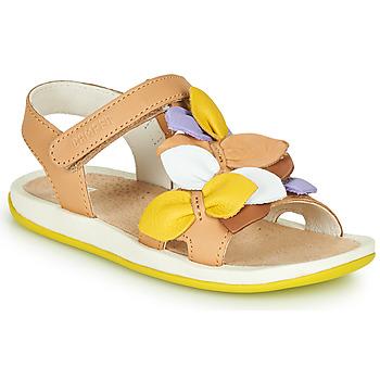 Schoenen Kinderen Sandalen / Open schoenen Camper TWINS Bruin / Geel