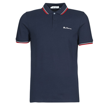 Textiel Heren Polo's korte mouwen Ben Sherman SIGNATURE POLO Marine / Rood / Wit