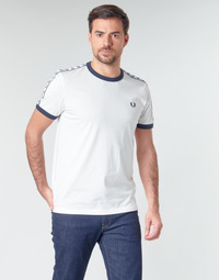 Textiel Heren T-shirts korte mouwen Fred Perry TAPED RINGER T-SHIRT Wit