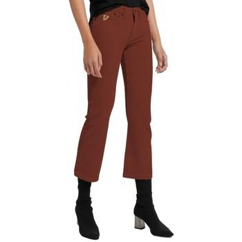 Textiel Dames 5 zakken broeken Lois Pantalon Velours Bordeaux  Pana-Coty 584 Rood
