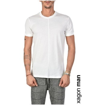 Textiel Heren T-shirts korte mouwen Xagon Man  Wit