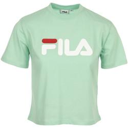 Textiel Dames T-shirts korte mouwen Fila Viivika Cropped Tee Wn's Groen