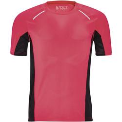 Textiel Heren T-shirts korte mouwen Sols SYDNEY MEN SPORT Rosa