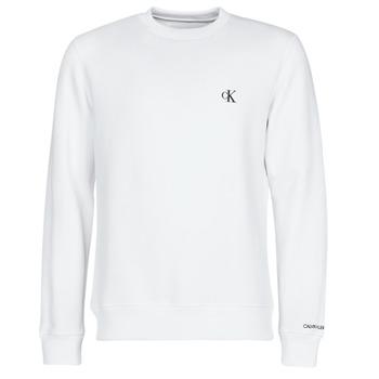 Textiel Heren Sweaters / Sweatshirts Calvin Klein Jeans CK ESSENTIAL REG CN Wit