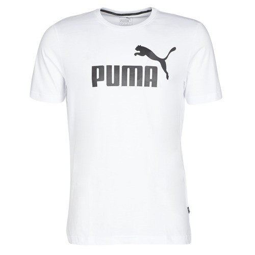 Textiel Heren T-shirts korte mouwen Puma ESSENTIAL TEE Wit