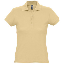 Textiel Dames Polo's korte mouwen Sols PASSION WOMEN COLORS Marrón