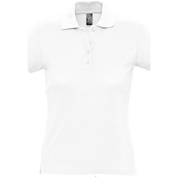 Textiel Dames Polo's korte mouwen Sols PASSION WOMEN COLORS Blanco
