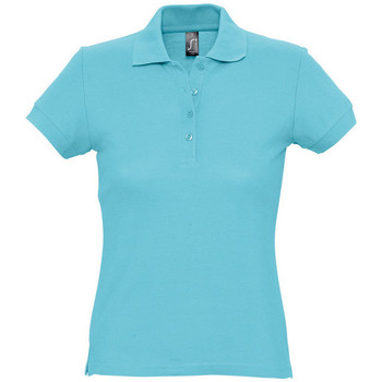 Textiel Dames Polo's korte mouwen Sols PASSION WOMEN COLORS Azul